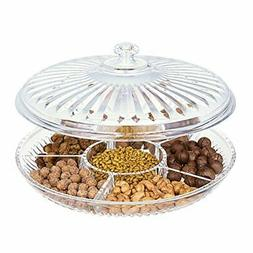 HABIBEE Creative Acrylic Multi Sectional Snack Serving Tray