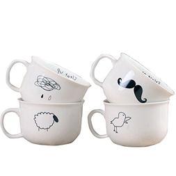 Creative Beard Bird Raindrops Sheep Ceramic Cup Cartoon Cute
