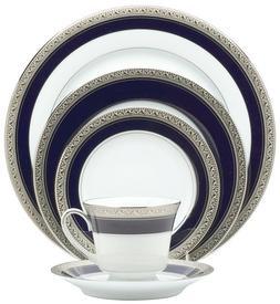 Noritake Crestwood Cobalt Platinum 20-Piece Dinnerware Place