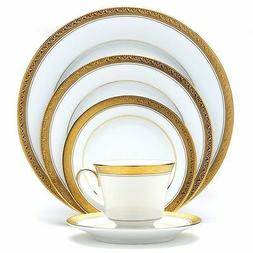 Noritake Crestwood Gold 50-pc Dinnerware Set Service /8 +Bow
