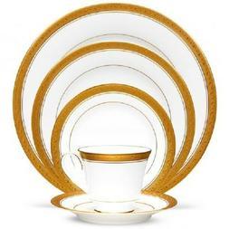 Noritake Crestwood Gold 50-piece Dinnerware Service for 8+ V