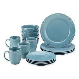 Rachael Ray Cucina Stoneware 16-Piece Dinnerware Set in Blue