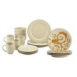Rachael Ray Cucina Stoneware 20-Piece Holiday Sets, Almond C