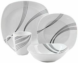 Gibson Home 92916.16RM Curvations 16 Piece Dinnerware Set, B