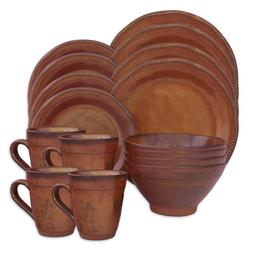 New Cyprus Sienna 16-Piece Dinnerware Set Microwave Safe, Di