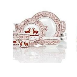 222 Fifth Deerly Loved 16-Piece Dinnerware Set, Service of 4