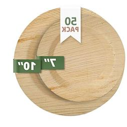 CaterEco Deluxe Round Palm Leaf Plates Set  |  Dinner Plates