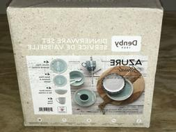 Denby Azure Blends 16 Piece New Open Box