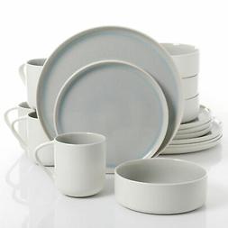 Urban Loft Denia 16-Piece Stoneware Dinnerware Set with Serv
