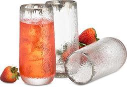 Decodyne Designer Drinking Glasses 18 Ounce - Made of Durabl