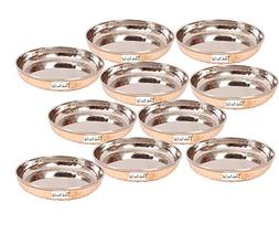 Set of 10 - Prisha India Craft Handmade Steel copper Dessert