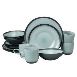 Euro Ceramica DIA-1001-DS Diana Dinnerware Set, 16 Piece, Gr