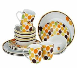 Rachael Ray Dinnerware 16-piece Service for 4 Little Hoot BR