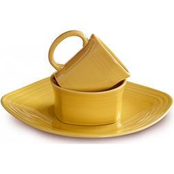 Fiesta Dinnerware - Square Place Setting - Sunflower Yellow