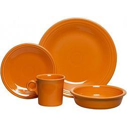 Fiesta Dinnerware - 4 Piece Place Setting - Tangerine Orange