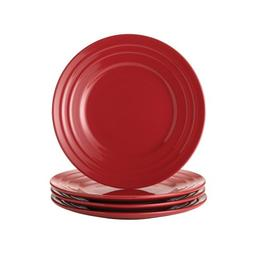 Rachael Ray Dinnerware Double Ridge Salad Plate Set, 4-Piece