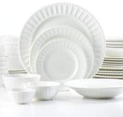 "The Cellar Dinnerware, White Elements "" Paloma Embossed "" 42"