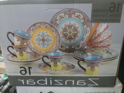 ❤ Dinnerware Euro Ceramica Zanzibar 16Pcs Set Multicolor K