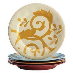 dinnerware gold scroll salad plate