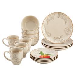 BonJour 16-Piece Dinnerware Orchard Harvest Stoneware Set