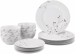 Light weight ,Durable Porcelain 18-Piece Dinnerware Set Serv