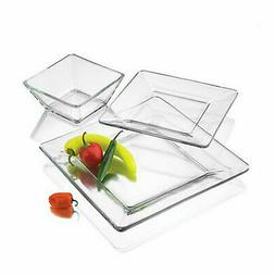 dinnerware set 12 pcs modern square thick