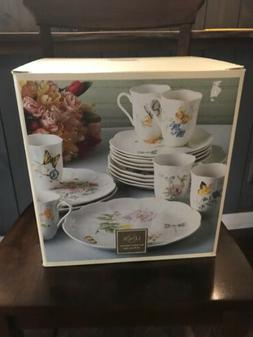 Lenox Dinnerware Set 18 PC Kitchen Dishes Butterfly Meadow P