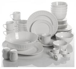 Dinnerware Set 46 Piece Plates Dishes Bowls Kitchen China Se