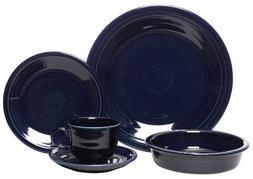 5 Piece Dinnerware Set, Cobalt
