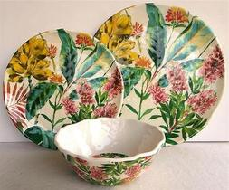 Dinnerware Set Dinner Plates Bowls Floral Wildflower 222 Fif
