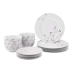 AmazonBasics 18-Piece Dinnerware Set - Branches, Service for