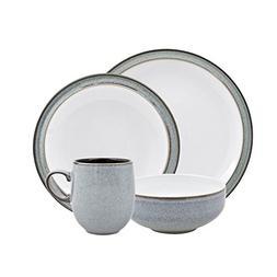 Denby 16-Piece Dinnerware Set, Jet Grey