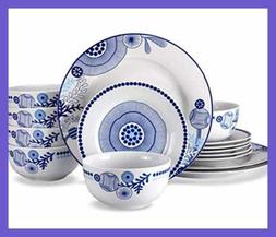 Dinnerware Set,Doublewhale 18-Piece Dishes Service for 6 Pla