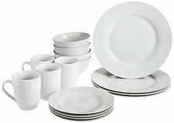 AmazonBasics 16-Piece Dinnerware Set, Service for 4