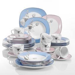 VEWEET Dinnerware Set Multi color Patterns Ceramic Tableware