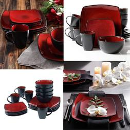 Dinnerware Set Square Dinner Plates Mugs Dishes Bowls For Ho