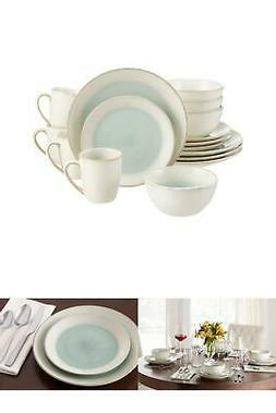 Dinnerware Set Stoneware Adelaide 16-Piece Reactive Glaze Se