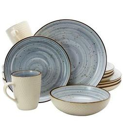 Dinnerware Set Swirling Pattern, Dishwasher and Microwave Sa