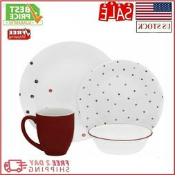 Dinnerware Set Corelle Vive Dottie Dinnerware Set 16 Pc Dinn
