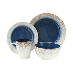 Dinnerware Set w/ Raised Pattern, Dishwasher and Microwave S