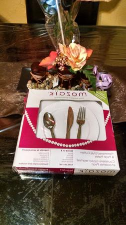 Dinnerware Sets Service For 8 Dishes Forks, Spoons, Knives,