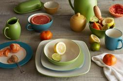 Noritake Dinnerware, Colorwave Turquoise Square 4 Piece Plac