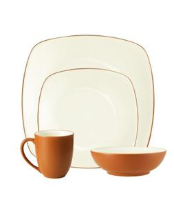 Noritake Dinnerware, Colorwave Terra Cotta Square 4 Piece Pl