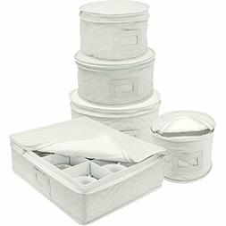 Sorbus Dinnerware Storage 5-Piece Set for Protecting or Tran