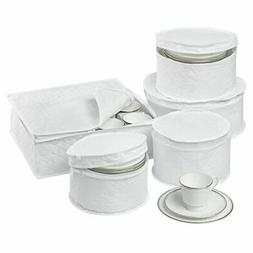 DINNERWARE STORAGE SET China Dish Protection Cushion Quilted