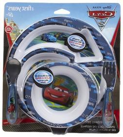 Disney Cars 4-Piece Feeding Set with Easy Grip - Assorted St
