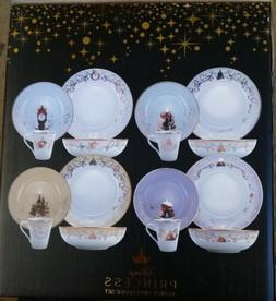 Disney Themed 16 Piece Ceramic Dinnerware Set | Plates | Bow