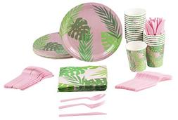 Disposable Dinnerware Set - Serves 24 - Tropical Party Suppl