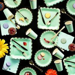ipalmay Disposable Pink Mint Blue Wedding <font><b>Dinnerwar
