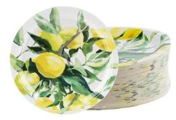 Disposable Plates - 80-Count Paper Plates, Lemon Party Suppl